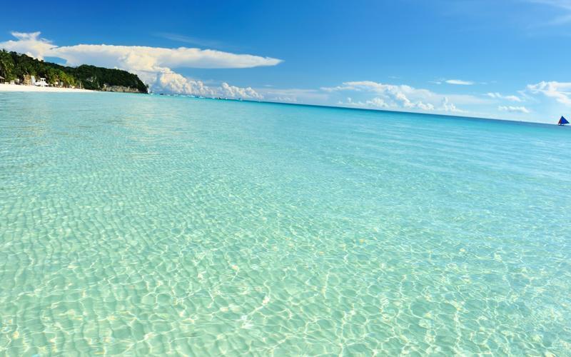 Обои - Кристально чистые моря Природа, Море, Лагуна, Берег 1131979319