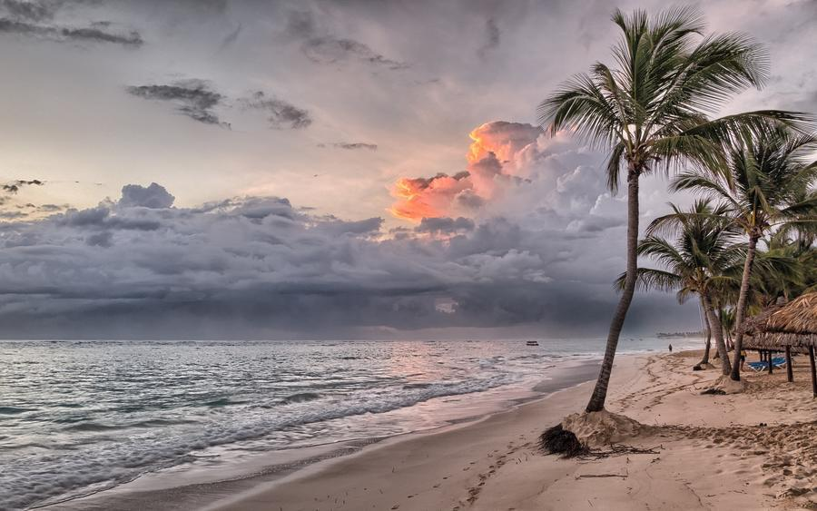 Шпалери Дивовижних островів Природа, Острови, Пальми, Захід Сонця, Схід Сонця, Берег 1697774372