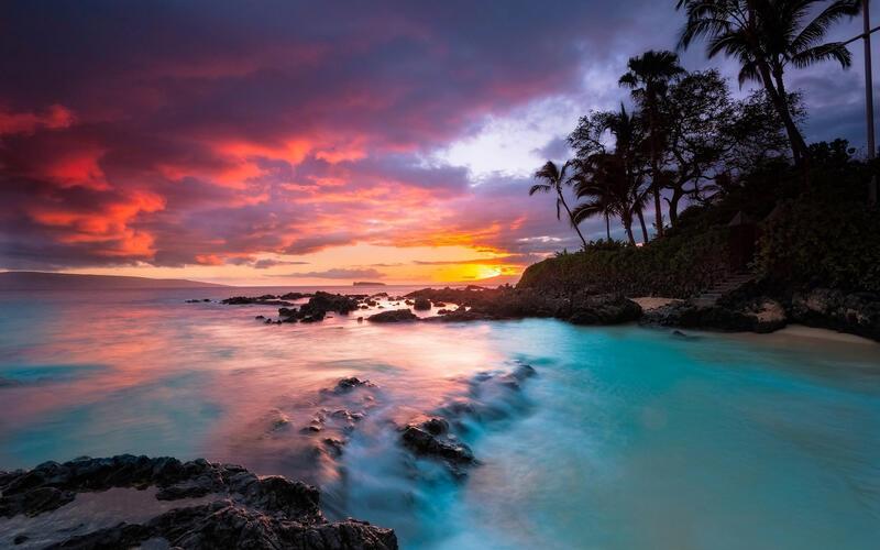 Amazing Islands Wallpapers Природа, Islands, Palms, Sunset, Sunrise, Shore, Ship, Night, Moon id448917035