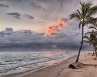 Шпалери Дивовижних островів Природа, Острови, Пальми, Захід Сонця, Схід Сонця, Берег id1039512095